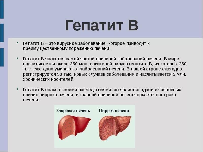 Чем грозит человеку носительство гепатита В?
